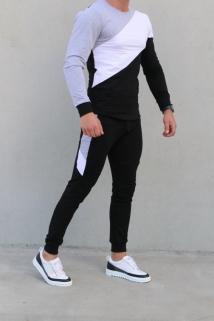 jogging grey-white-black