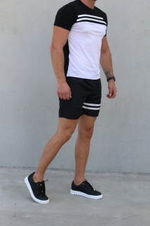 t-shirt & short black