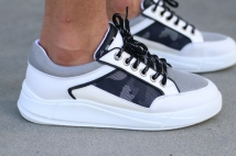 shoes white-grey