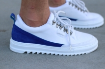 shoes white blue