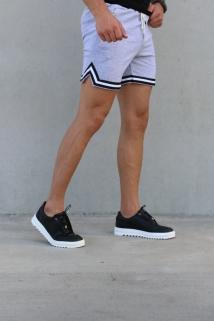 short gray white