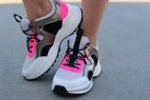 sneaker silver fushia