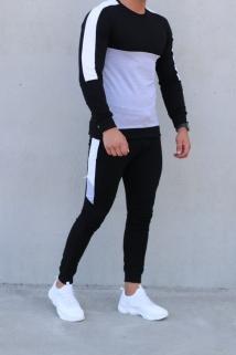 jogging black-grey-white