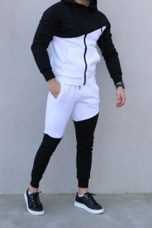 jogging black-white