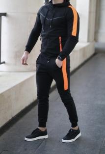 jogging black orange