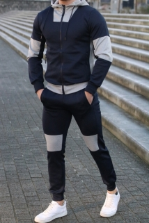 jogging navy bleu grey