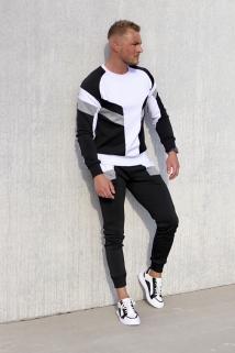 jogging grey-black-white