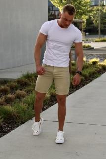 jeans short beige