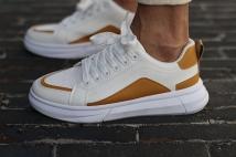 sneaker white/oker