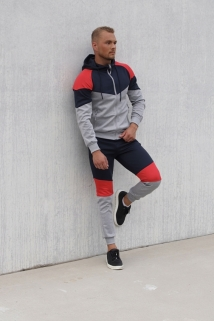 jogging grey/red