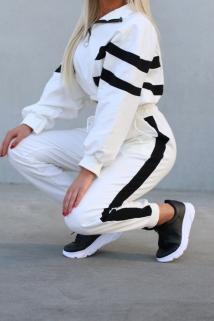 jogging white black