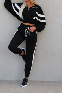 jogging black and white
